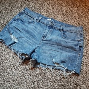 Old Navy Destructed Denim Shorts